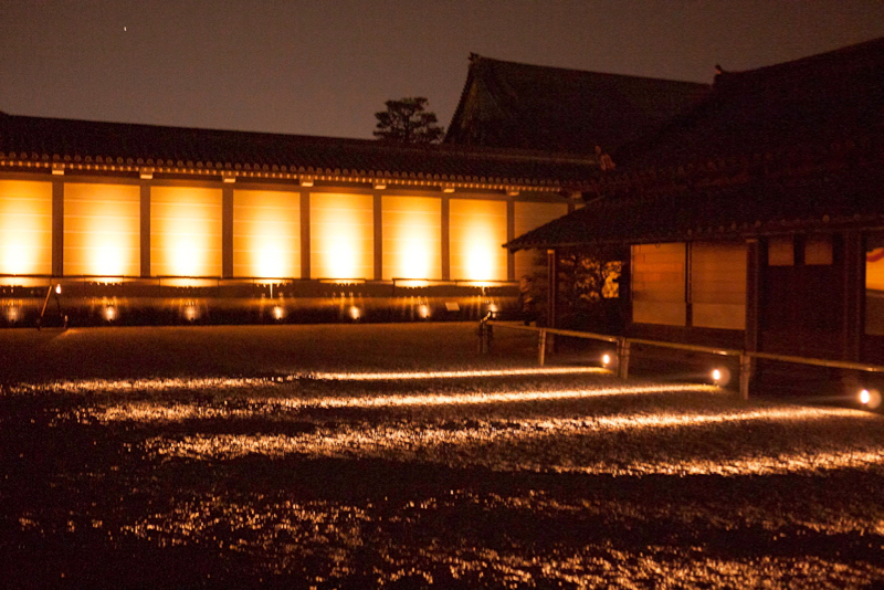 Kyoto gardens at night